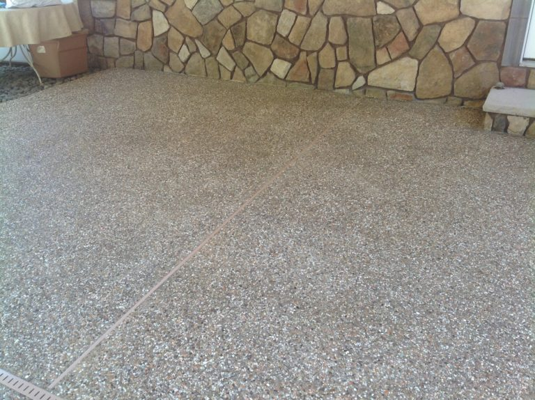Exposed Aggregate Concrete Steps Are Attractive and Safe to Use